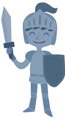 The knight (your client) is introduced in part 1 of the template.