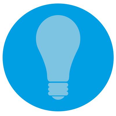 A lightbulb representing brand awareness.