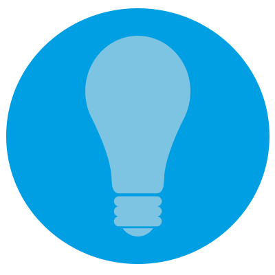 A lightbulb representing brand awareness.