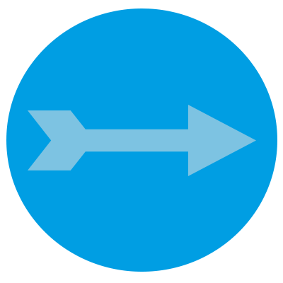 An arrow representing lead generation.