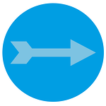 An arrow representing lead generation.
