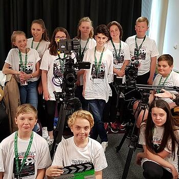 The students from the Toot Hill media studies class came to Skeleton for a half-day of interactive learning called PROJECT VLOG.