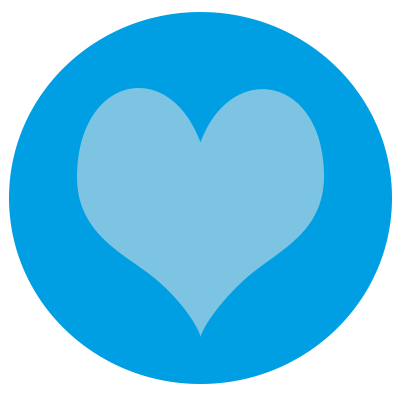 A heart representing viewer engagement.