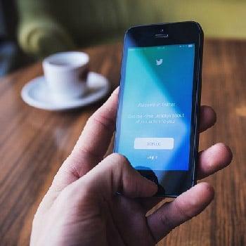 A B2B marketer checks Twitter as part of their social video marketing plan.