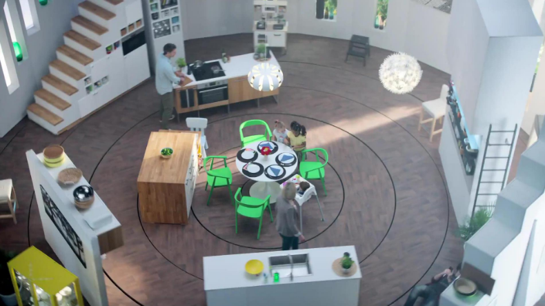 Ikea spins a family around in this fun video ad.