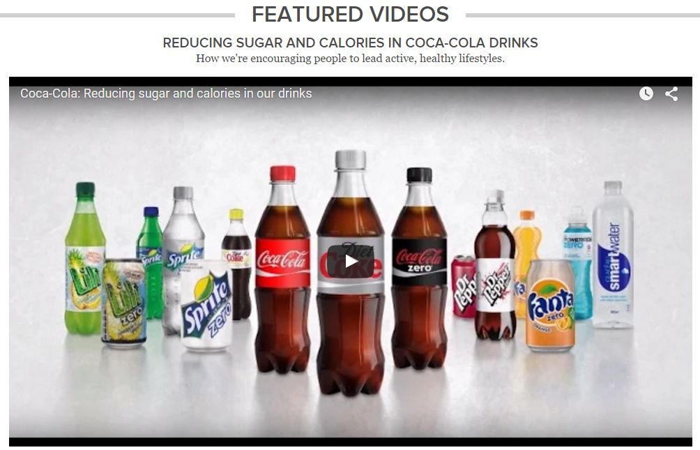 An example from Coca-Cola.
