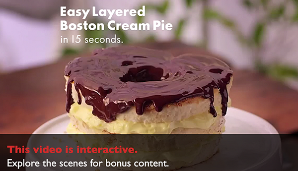 Kmart's interactive recipe - Boston cream pie