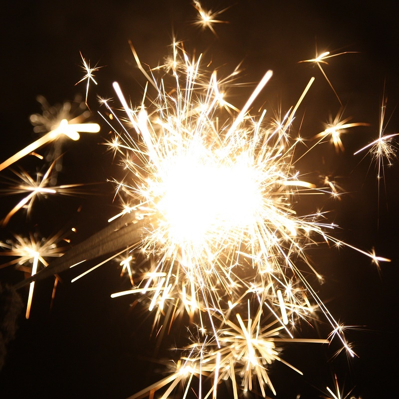 A sparkler: symbolising how video content marketing will energise your funnel