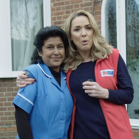 Claire Sweeney and a care worker star in a powerful ad in this week's Video Worth Sharing.