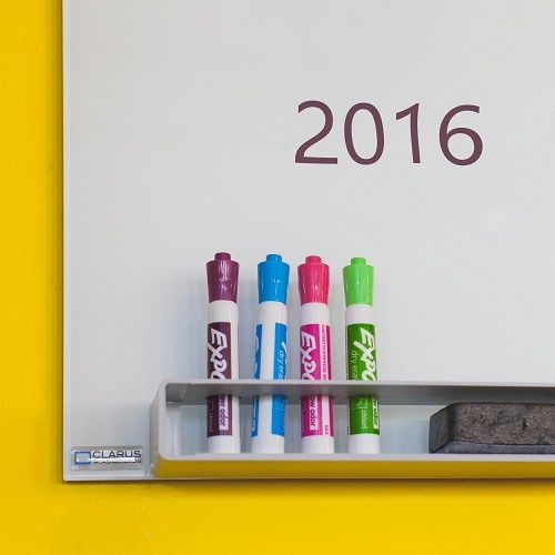 A whiteboard with 2016 written on it — the year of big video marketing changes.