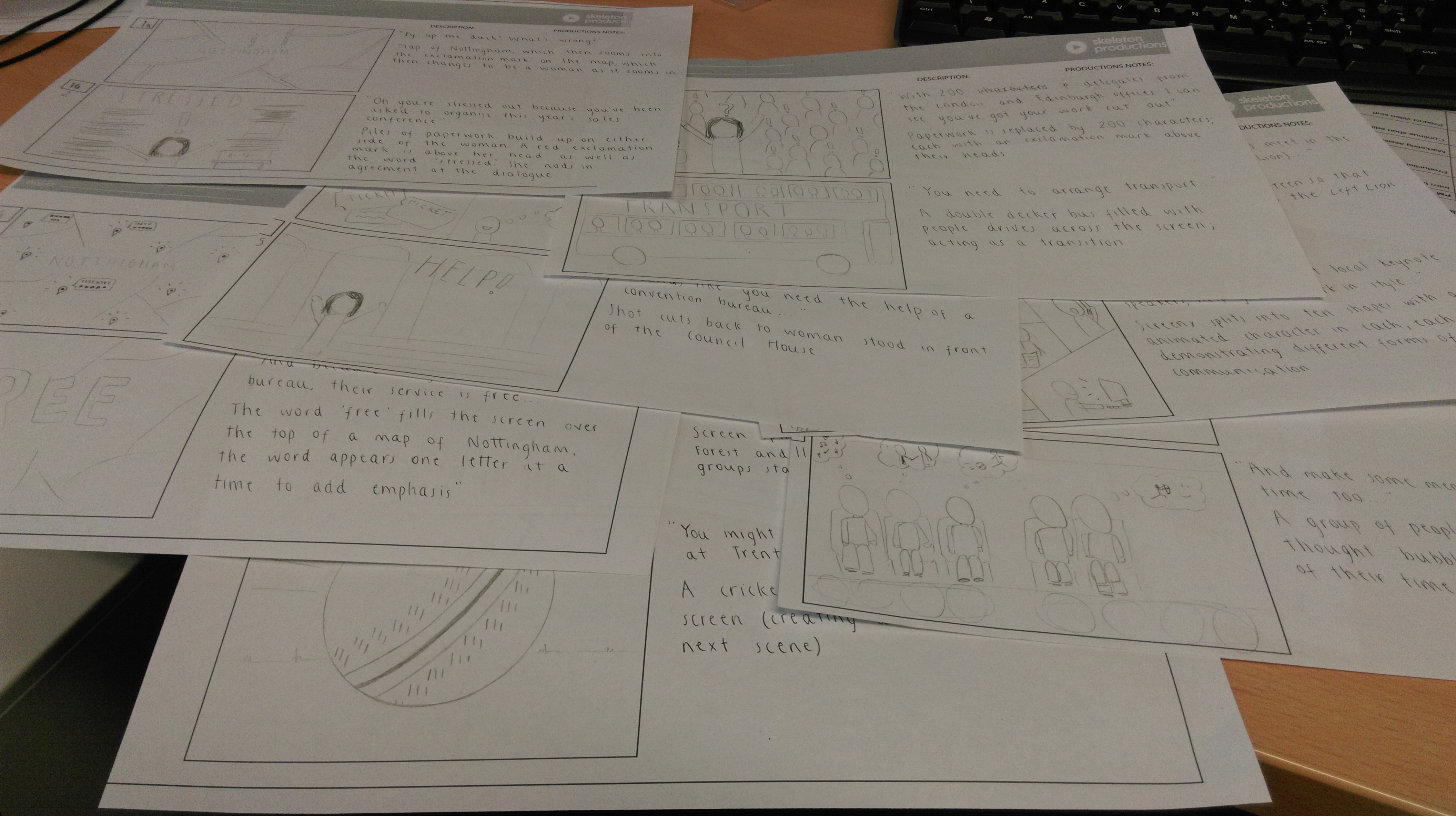 Storyboarding for an upcoming project