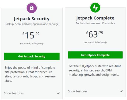 Jetpack plan