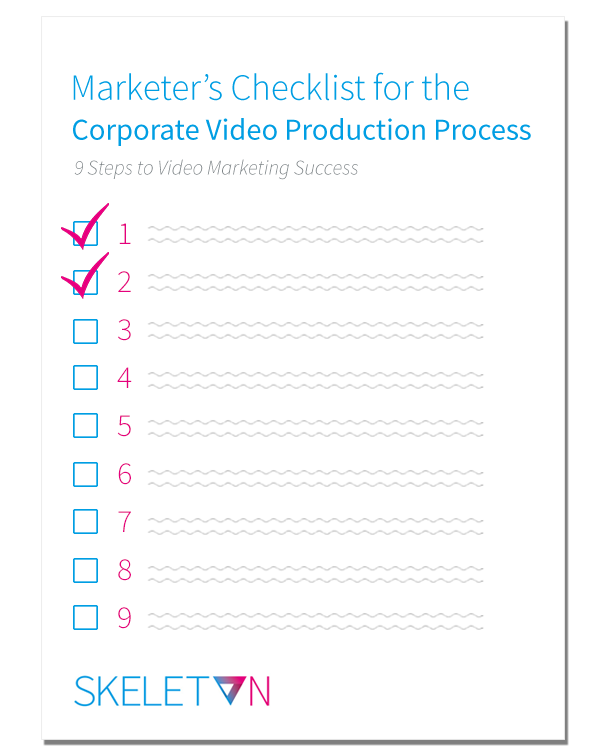Corporate Video Production Process Checklist