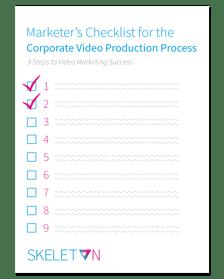 Corporate Video Production Process Checklist