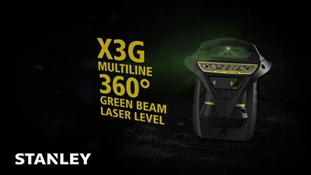 Stanley Trident Green Laser Beams