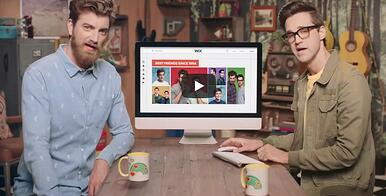Rhett and Link take part in a social media explainer video for Wix