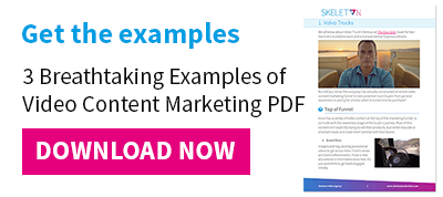 Get the examples: 3 Breathtaking Examples of Video Content Marketing PDF
