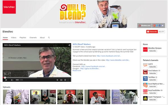 Blendtec YouTube channel