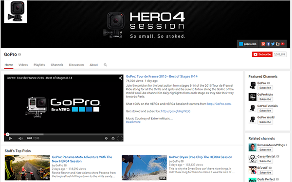 GoPro YouTube channel