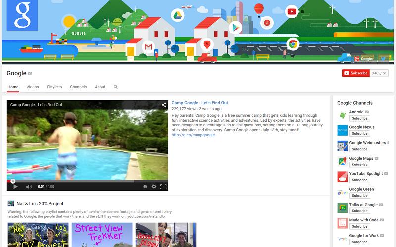 Google YouTube channel