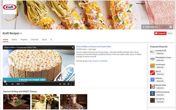 Kraft Recipes YouTube channel